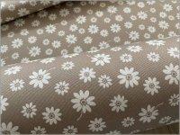 【オックス 生地】シンプルフラワー*花柄*beige*1B