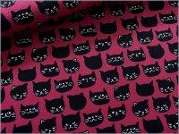 【オックス 生地】黒猫*ネコフェイス*葡萄*grape*2B