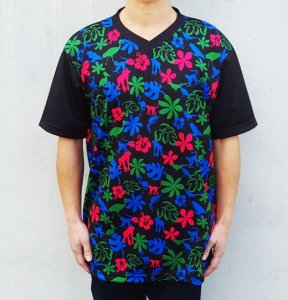 [ANIMAL ALOHA] JERSEY V Neck T-Shirts