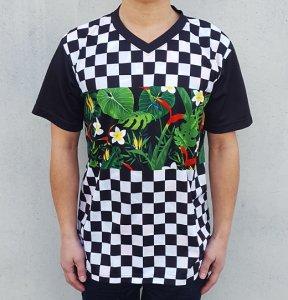 [FLAG ALOHA] JERSEY V Neck T-Shirts