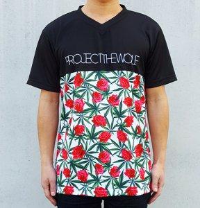 [ROSE LEAF] JERSEY V Neck T-Shirts