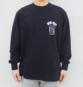 [DUST PROF] Crewneck Sweatshirts (BLACK)