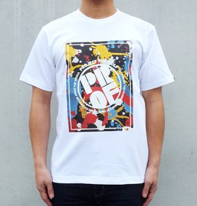 [4COLOR PAINTED] T-Shirts (WHITE)