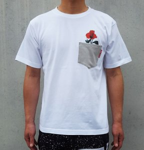 [ROSE POCKET] T-Shirts (WHITE)