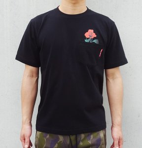 [ROSE POCKET] T-Shirts (BLACK)