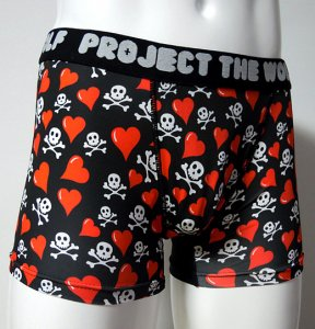 <img class='new_mark_img1' src='https://img.shop-pro.jp/img/new/icons5.gif' style='border:none;display:inline;margin:0px;padding:0px;width:auto;' />[SKULL HEART] Boxer pants (BLACK)