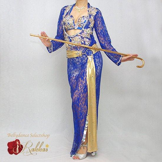 エジプト製衣装 サイーディ/バラディドレス:総レースドレス(インナーパンツ付き)【カラー:004.ブルー】