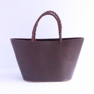 ハンドステッチレザーバッグ(チョコ)