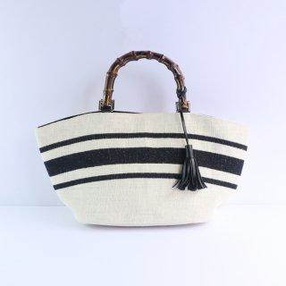 バンブー刺繍バッグ(ホワイト)