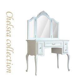 ドレッサー ホワイト 三面鏡 7021-N-18 リプロ C 100x50x90
