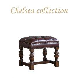 チェスタースツール チョコレートPUレザー 9004-S-5P38B リプロ A 50*40*46