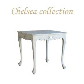 サイドテーブル 幅80cm  ホワイト 4235-9-180 リプロ B 80*80*10