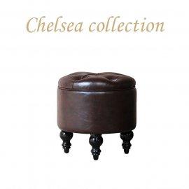 マカロンスツール 一人掛け チョコレートPUレザー aj6p38k リプロ