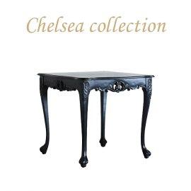 サイドテーブル 幅90cm ブラック 4235-9-80 リプロ B 80*80*10