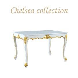 ダイニングテーブル ホワイト ゴールドポイント 4235-1.2-18G リプロ C 120*90*10
