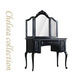 ドレッサー ブラック 三面鏡 7021-n-8 リプロ C 100x50x90