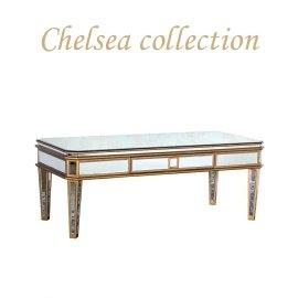 ローテーブル デスク アンティーク 姫系 フレンチ エレガント ミラー  鏡 家具 hnm-004 リプロ B 120*45*30