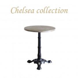 カフェテーブル Φ60cm 3本脚 オーク材 プラスターウッド ブラック frt1-60r-lb-1 リプロ