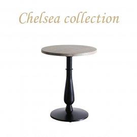 カフェテーブル Φ60cm 丸脚 オーク材 プラスターウッド ブラック frt1-60r-lb-3 リプロ