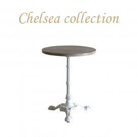 カフェテーブル Φ60cm 3本脚 オーク材 プラスターウッド ホワイト frt1-60r-lw-1 リプロ