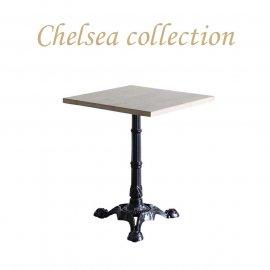 カフェテーブル 60cm角 3本脚 オーク材 プラスターウッド ブラック frt1-60s-lb-1 リプロ
