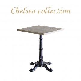 カフェテーブル 60cm角 4本脚 オーク材 プラスターウッド ブラック frt1-60s-lb-2 リプロ