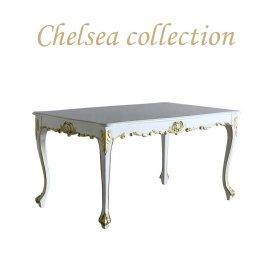 ダイニングテーブル ホワイト ゴールドポイント 4235-1.5-18g リプロ C 150*90*10