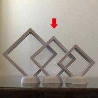 透明フレーム(ホワイト)中 5個セット