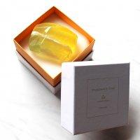 【箱入り宝石石鹸11-BW】シトリン〜ライトグリーン&オレンジ系カラー〜