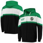 ボストン・セルティックス Fanatics Branded Colorblock Wordmark Full-Zip Hoodie - Black/Kelly Green