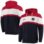 ワシントン・ウィザーズ Fanatics Branded Colorblock Wordmark Full-Zip Hoodie - Navy/Red