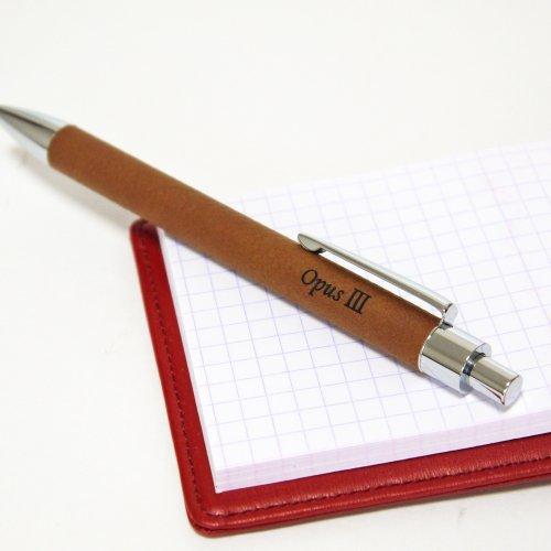 【シンセティックレザー ボールペン】名入れ彫刻