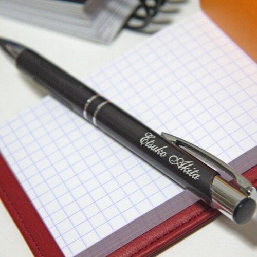 【メタルカラーボールペン】名入れ彫刻