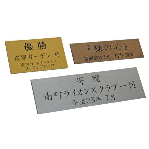 【薄型金属色プレート】トロフィープレート・タイトルプレート・寄贈プレートに最適!