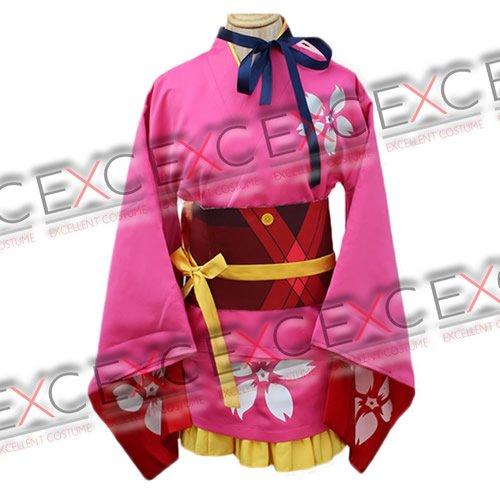 甲鉄城のカバネリ 無名(むめい) 着物 風 コスプレ衣装
