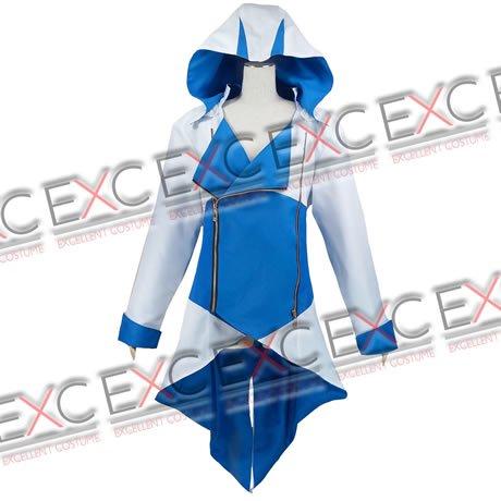 【秋コスプレ百選36%OFF!!】アサシンクリード3 風 コナー ジャケット(青白) タイプ 衣装