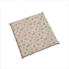 バラ柄のかわいいクッション(1個入り・43cm×43cm×3cm)アンティークフラワー グリーン