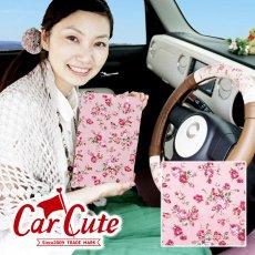 【2枚までDM便送料無料!】かわいい 車検証ケース ブックカバータイプ・アンティーク フラワー ピンク <花柄 バラ >