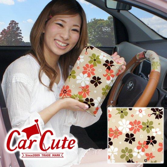 【2枚までDM便送料無料!】かわいい車検証ケース ブックカバータイプ・夢見るピンクミルクティー <花柄・フラワー>