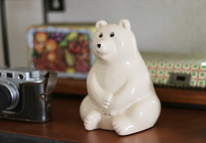 polar bear money box