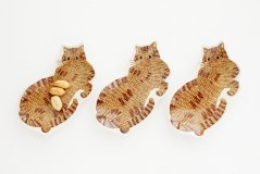 kata kata/印判手豆皿 トラ猫