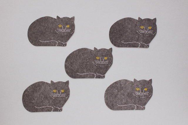 トモタケ/凸版印刷コースター 黒猫 切...