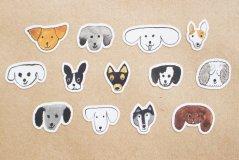 トラネコボンボン/シールロール Dog