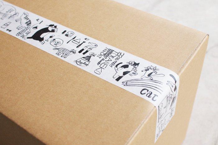 トラネコボンボン/クラフト粘着テープ Cat