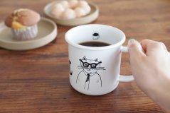 トラネコボンボン/ほうろうマグカップ 猫A柄
