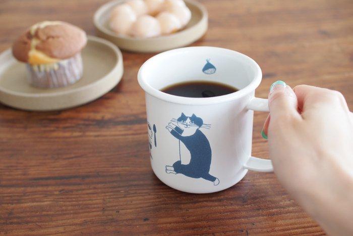 トラネコボンボン/ほうろうマグカップ ...