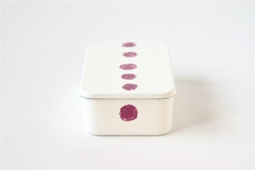 野田琺瑯×mitsou/ほうろう弁当箱 あずき色のまる