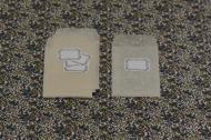 倉敷意匠/グラシン封筒+水糊ラベル ベージュS(5枚セット)