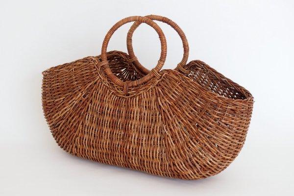 あけびのかごバッグ 織編み リング手【送料無料】