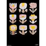 鹿児島睦/図案ポスター 9 FLOWERS (in the dark)